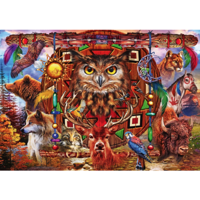 Bluebird puzzle totem animal puzzle de 4000 pieces