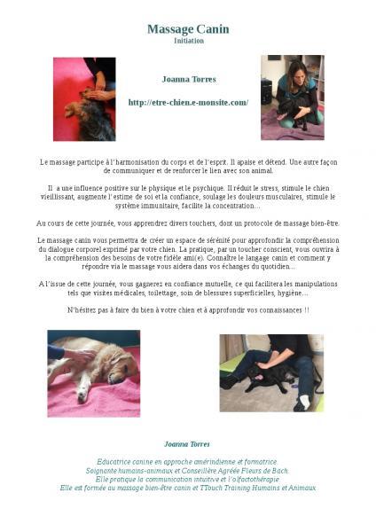 Journee massage canin seule