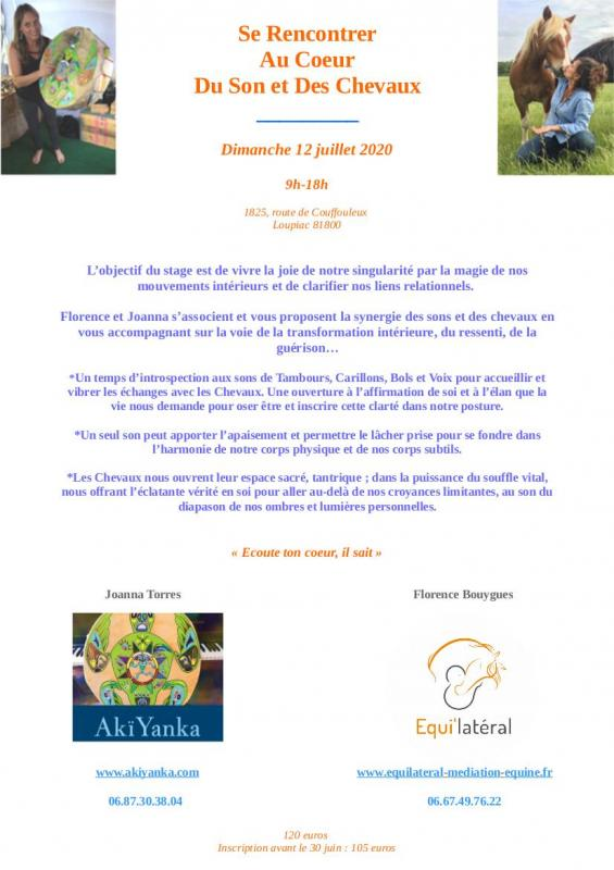 Stage sons et chevaux photos